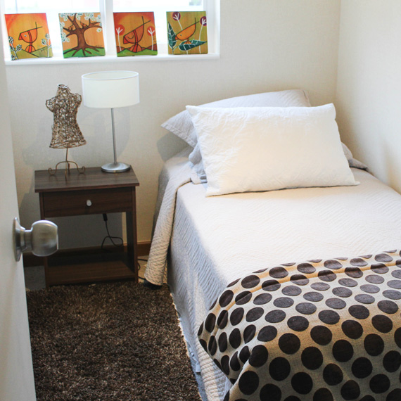 Dormitorio individual-Condominio Nueva Lafquen