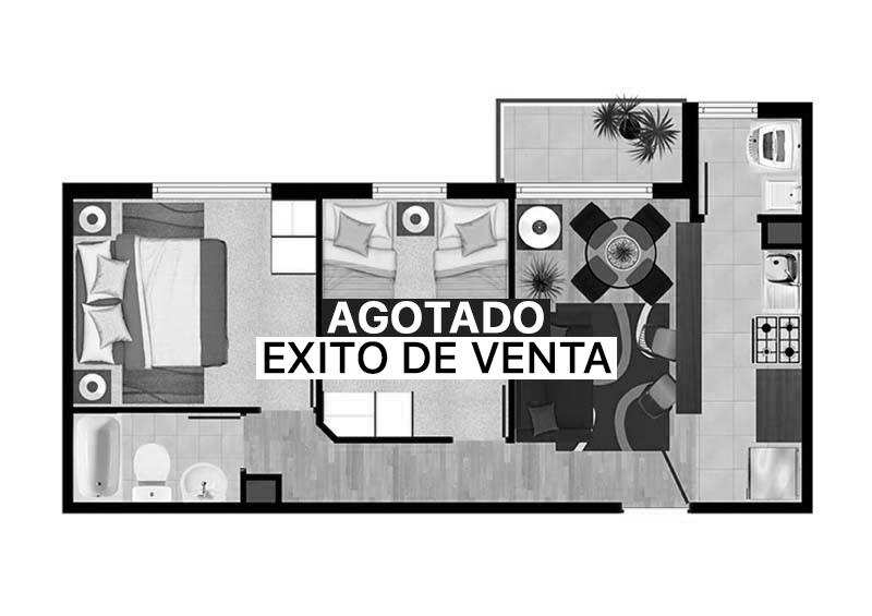 Condominio Nueva Lafquen-AGOTADO PLANTA-2A